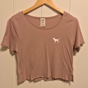 PINK Cropped T-Shirt